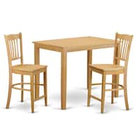 Cream/Natural Finish Solid Wood 3-piece Counter Height Pub Set