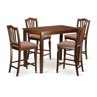 Natural-finshed Wood 5-piece Counter-height Dining Set