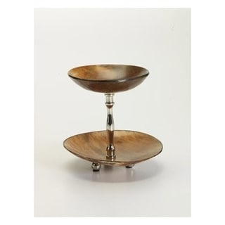 Montecito Two Tier Round Horn Dish