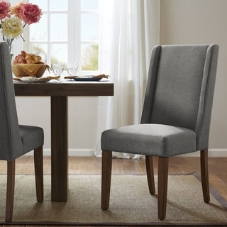Madison Park Victor Grey Wing Dining Chair (Set of 2)