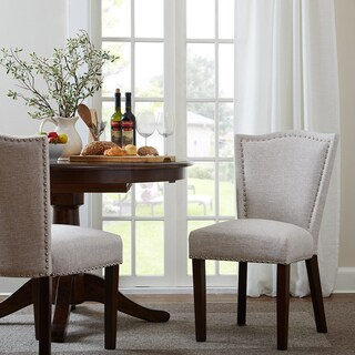 "Madison Park Everitt Grey Multi Dining Chair (Set of 2) - 21.75""w x 25""d x 35.5""h (2)"