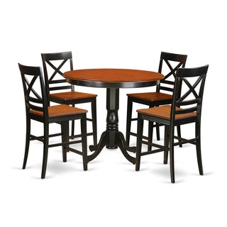 Rubberwood 5-piece Counter Height Dining Set
