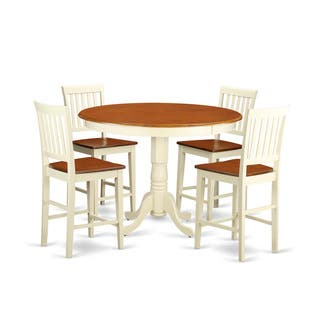 Cream Solid Rubberwood 5-piece Counter-height Dining Table Set|https://ak1.ostkcdn.com/images/products/12063718/P18932661.jpg?impolicy=medium