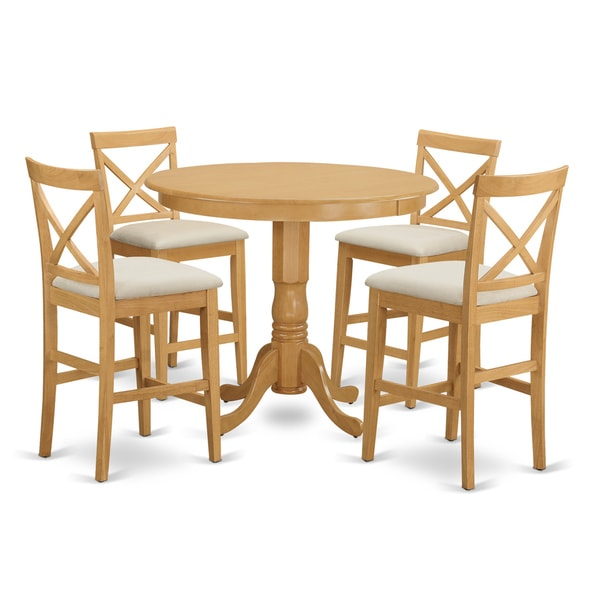 5 Piece Dining Room Sets Amazon Com: Shop Off-white Rubberwood 5-piece Counter-height Dining
