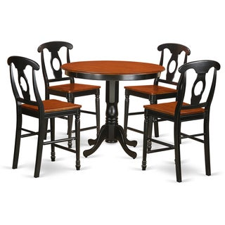 Solid Wood Five-piece Counter Height Table and Chair Set