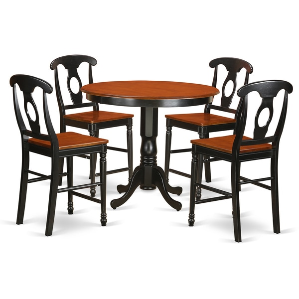 Shop Solid Wood Five-piece Counter Height Table And Chair
