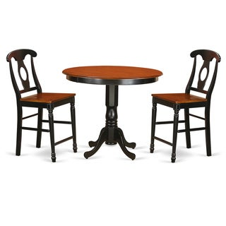 Solid Rubberwood 3-piece Pub Table Set