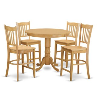 Rubberwood Five-piece Counter Height Dining Set