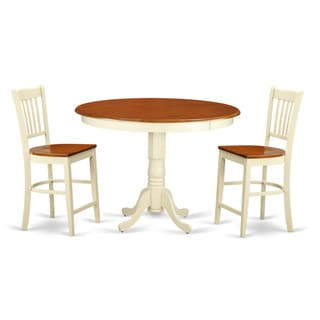 Solid Wood 3-piece Counter-height Dining Table Set