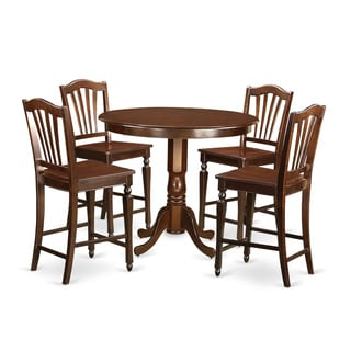 Brown Solid Wood 5-piece Counter-height Dining Set