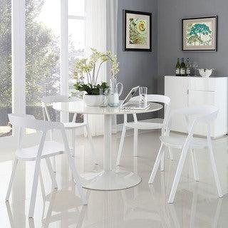 Tread White Plastic 4-piece Dining Set