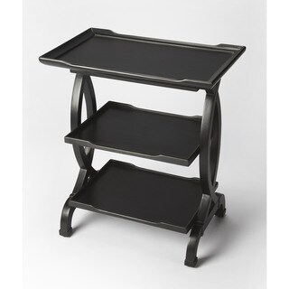 Butler Kimiko Black Licorice Wood and Resin Side Table