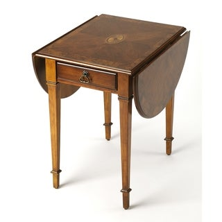 Butler Glenview Brown Wood/MDF Olive Ash Burl Pembroke Table