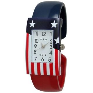 Olivia Pratt Women's Fourth Of July Bangle Watch