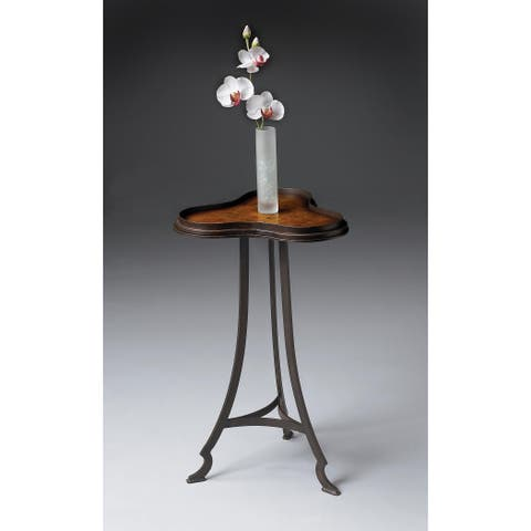 Butler Ingrid Distressed Metal Clover Shaped Accent Table