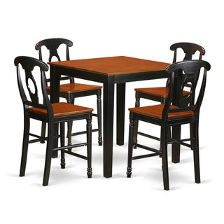 Rubberwood 5-piece Counter-height Dining Set