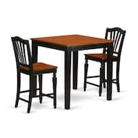 Black Wood 3-piece Pub Table Set