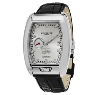 Charriol Men's C25SS791006 'MD52' Silver Dial Black Leather Strap Anniversary Swiss Automatic Watch