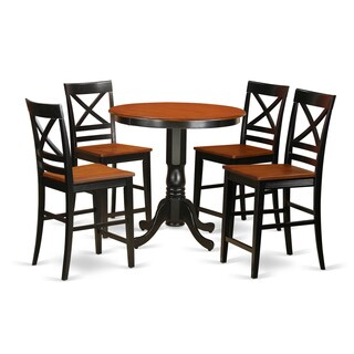 Solid Wood 5-piece Counter-height Table and Chair Set
