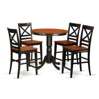 Link to Solid Wood 5-piece Counter-height Table and Chair Set Similar Items in Dining Room & Bar Furniture