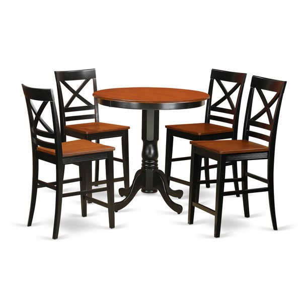 Shop Solid Wood 5-piece Counter-height Table And Chair Set
