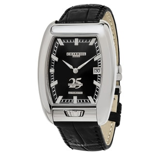 Charriol Men's C25BD791004 'MD52' Black Dial Black Leather Strap Anniversary Swiss Automatic Watch