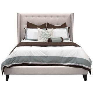Olivia Espresso Finish Linen and Fabric California King Bed