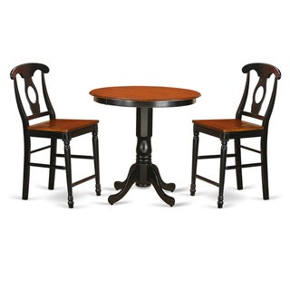 Solid Rubberwood Three-piece Counter-height Dining Set