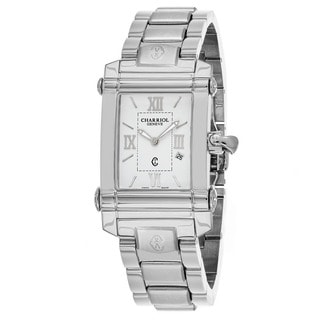 Charriol Women's CCSTRH920830 'Columbus' White Dial Swiss Quartz Watch with Stainless Steel Braclet