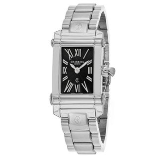 Charriol Women's CCSTRD9102019 'Columbus' Black Dial Stainless Steel Swiss Quartz Watch