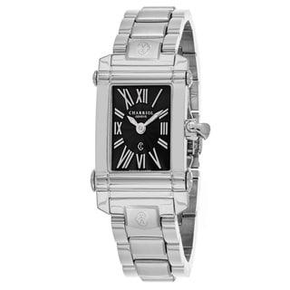 Charriol Women's CCSTRD9102019 'Columbus' Black Dial Stainless Steel Swiss Quartz Watch