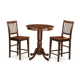 Brown Asian Rubberwood 3-piece Pub Table Set