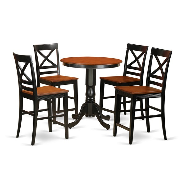 Solid Wood 5-piece Counter-height Pub Set. Opens flyout.