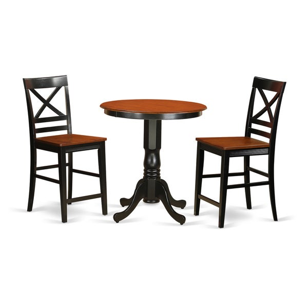 Shop Solid Wood 3-piece Counter-height Table And Chair Set