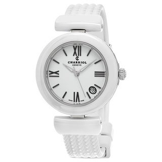 Charriol Women's AE33CW.174.004 'Ael' White Dial White Rubber Strap Swiss Quartz Watch