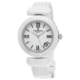 Charriol Women's AE33CW.174.004 'Ael' White Dial White Rubber Strap Swiss Quartz Watch