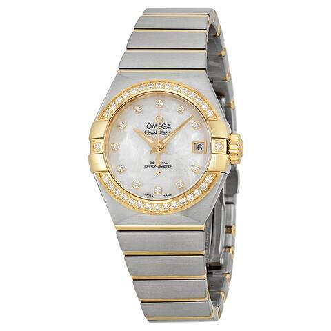 Omega Women's Constellation Silver MOP Watch