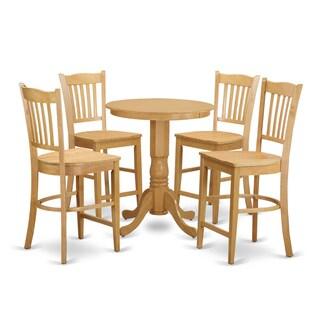 Cream Solid Wood 5-piece Pub Table Set
