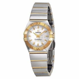 Omega Women's 12320246005004 Constellation White MOP Watch
