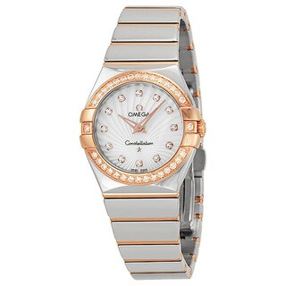 Omega Women's 12325276055006 Constellation White MOP Watch