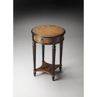 Handmade Butler Jules Old Spanish Mission Brown Wood/MDF Painted End Table (China)
