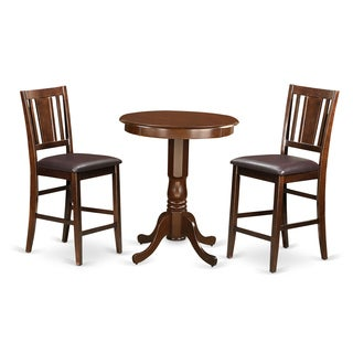 Mahogany Rubberwood 3-piece Pub Table Set