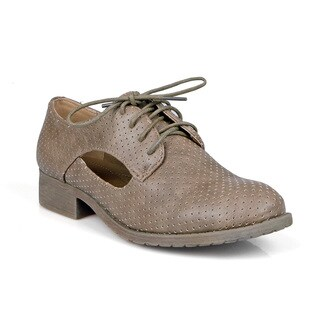 Mark and Maddux Side cut out Women's Lace-up Oxfords