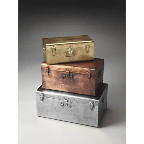 Butler Modern Rectangular Storage Trunk Set Moderate - Assorted
