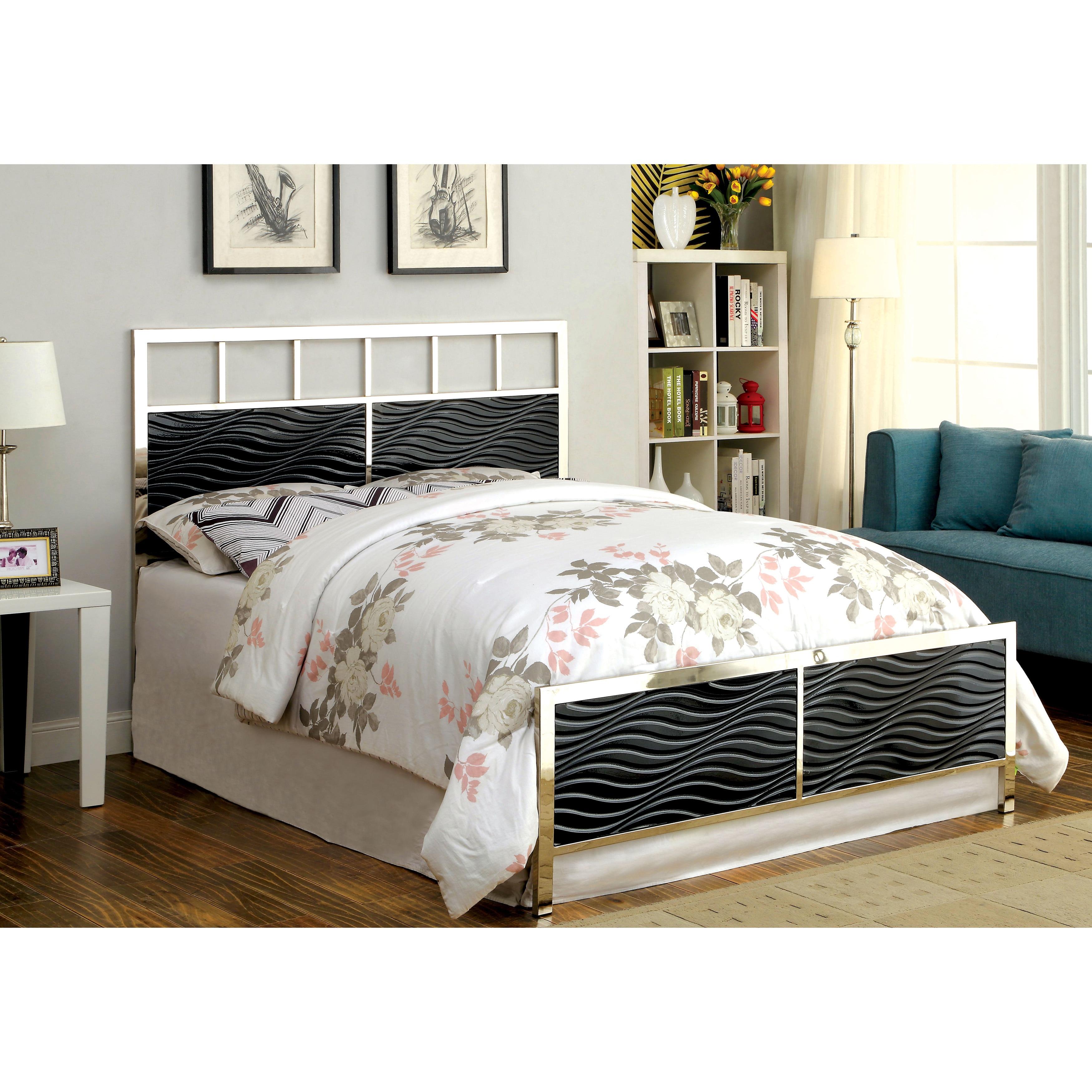 chrome bedroom furniture. Interesting Furniture Furniture Of America Hypno Metallic Bed To Chrome Bedroom Furniture F