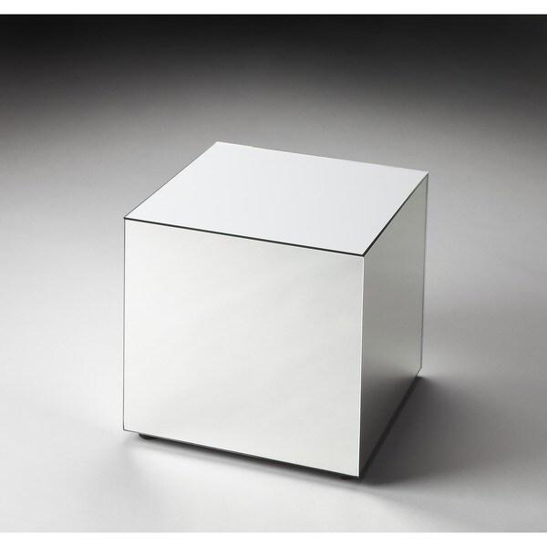 Handmade Butler Emerson Mirrored Bunching Cube (India) - Grey/Silver
