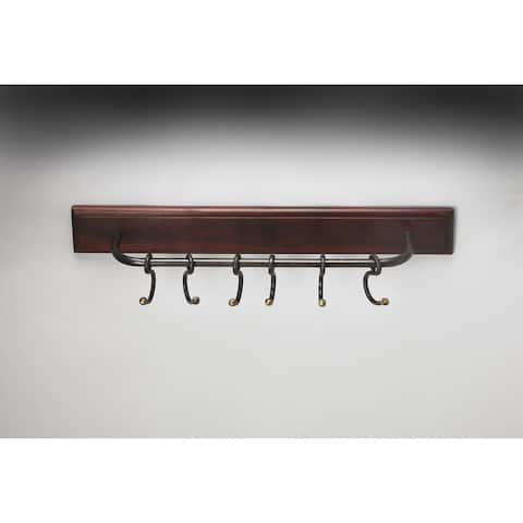 Butler Glendo Iron & Wood Wall Rack
