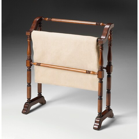 Butler Traditional Plantation Cherry Blanket Rack - Dark Brown