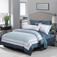 Superior Meridian 300 Thread Count Embroidered Cotton Duvet Cover Set