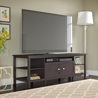 Bush Furniture Broadview Espresso Oak 75-inch TV Stand